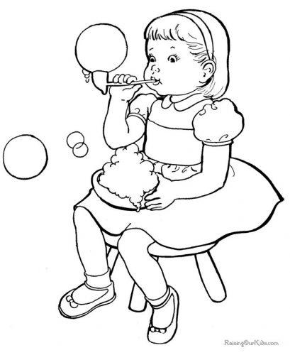 раскраска девочка