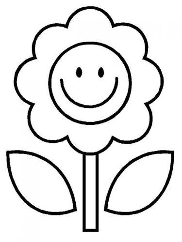раскраска цветок