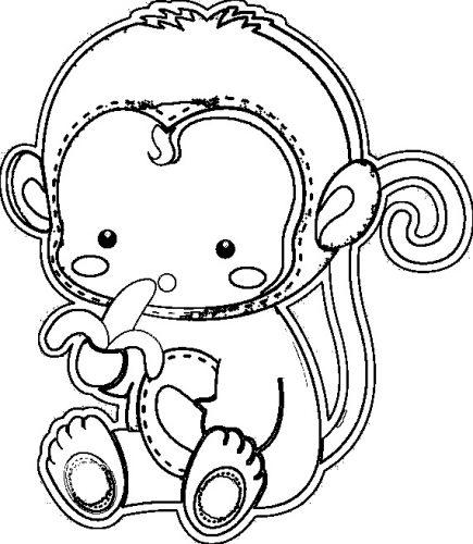 раскраска обезьяна12