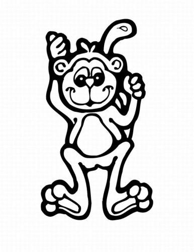 раскраска обезьяна16