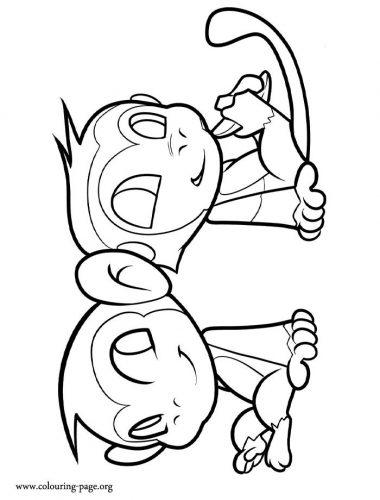 раскраска обезьяны