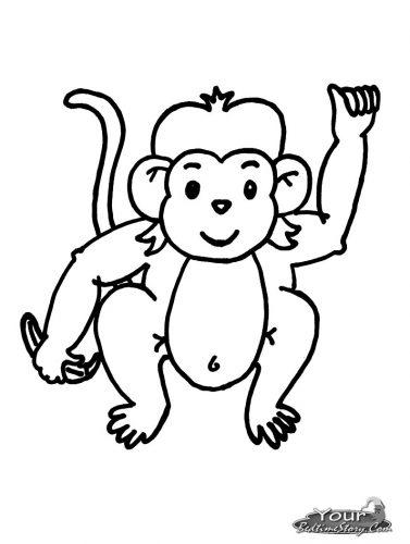 обезьянка разукрашка
