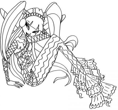 русалочка винкс раскраска