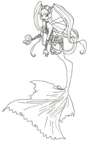 русалочка винкс раскраска2