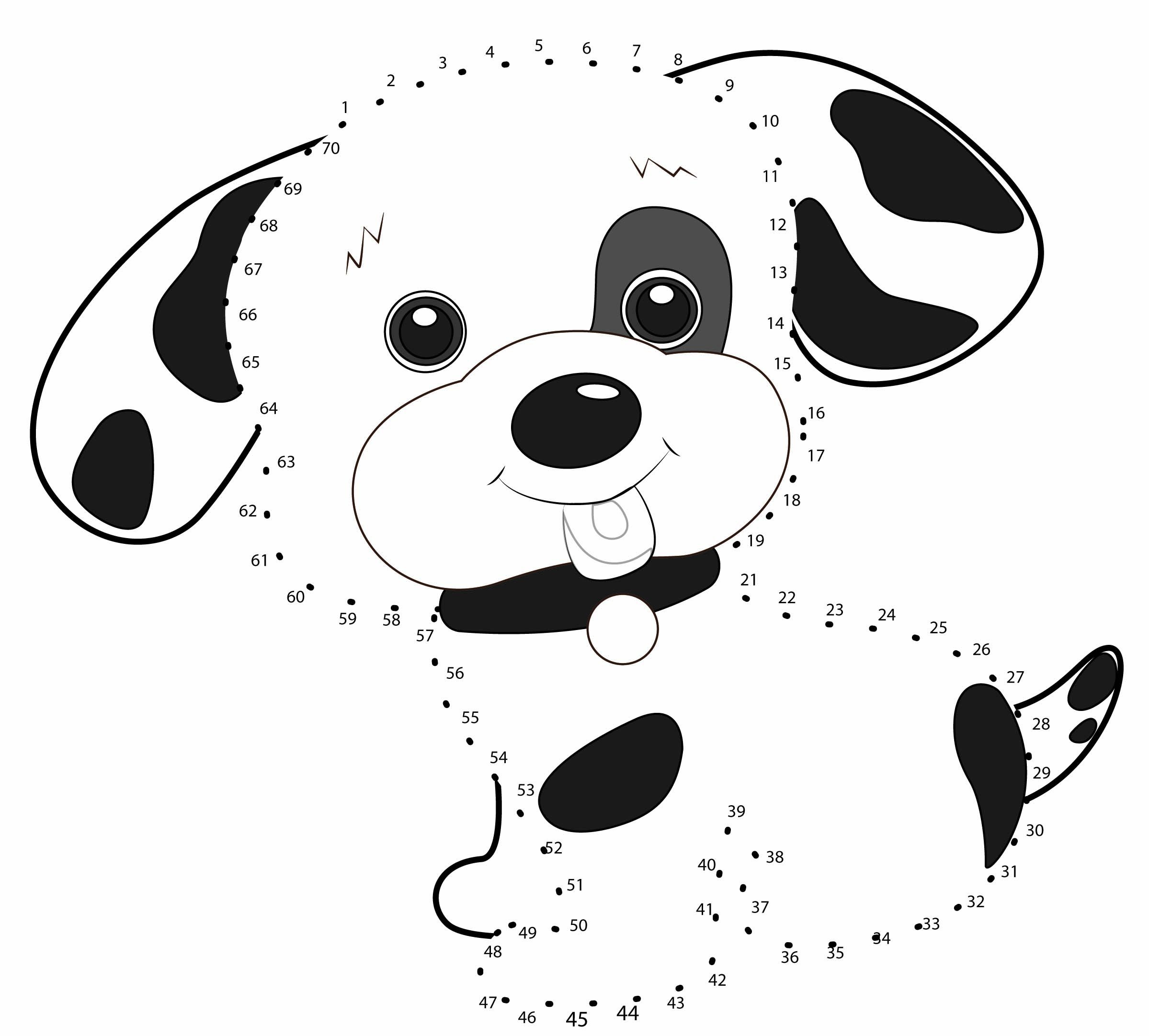джек картинка по точкам собачка некоторым данным