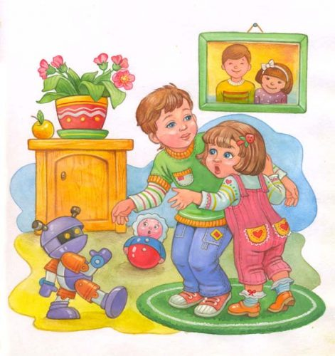 картинки дети играют в кубики8