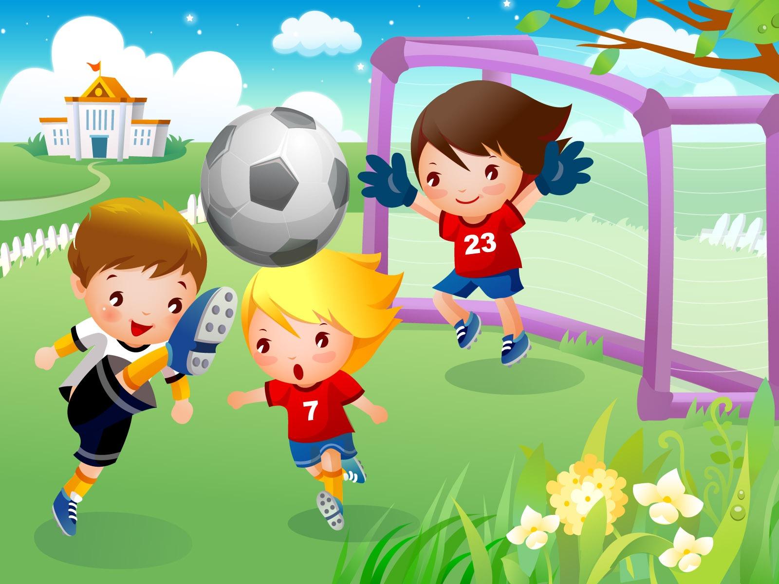 Рисунки дети футбол