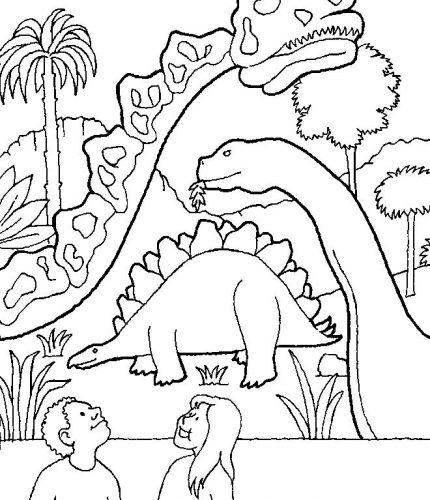 раскраска с динозаврами