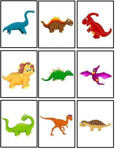 карточки динозавры
