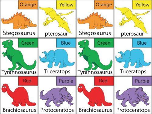 карточки динозавры на английском