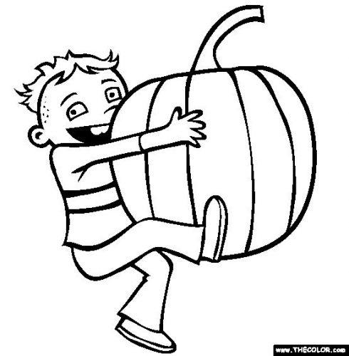 раскраска осень для детей2