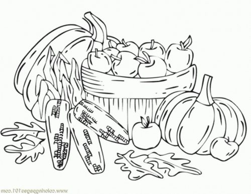 раскраска осень для детей