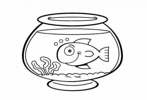 раскраска аквариум с рыбами3