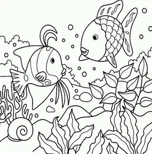 раскраска рыбы2
