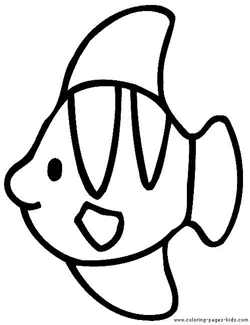 раскраска рыба