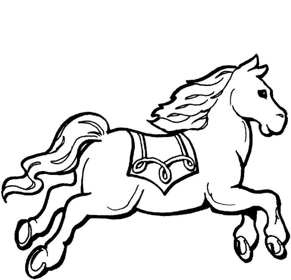 картинки для раскрашивания лошадки