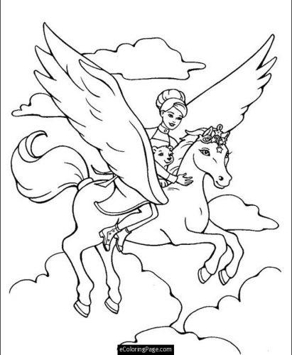 раскраска лошадка10