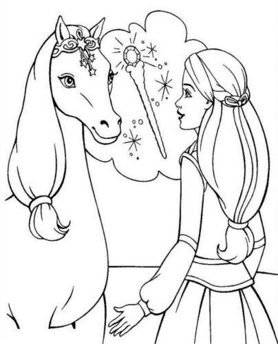 раскраска лошадка12