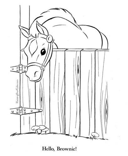 раскраска лошадка13