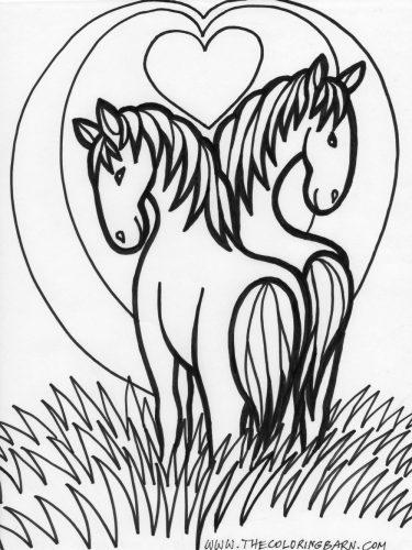 раскраска лошадка15