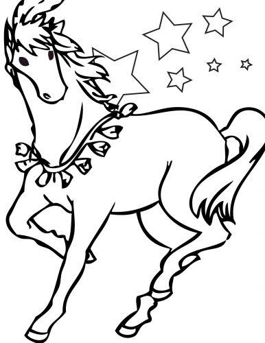раскраска лошадка3