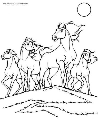 раскраска лошадка8