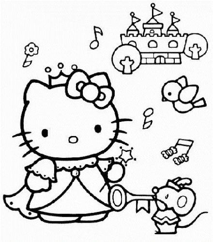 раскраска китти принцесса
