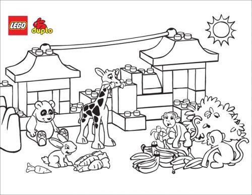 лего зоопарк раскраска