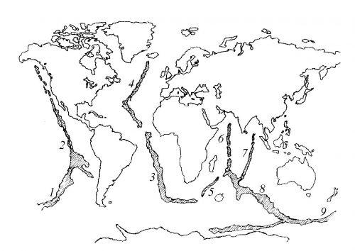 Материки земли раскраска