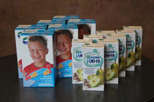молоко и сок с молочной кухни