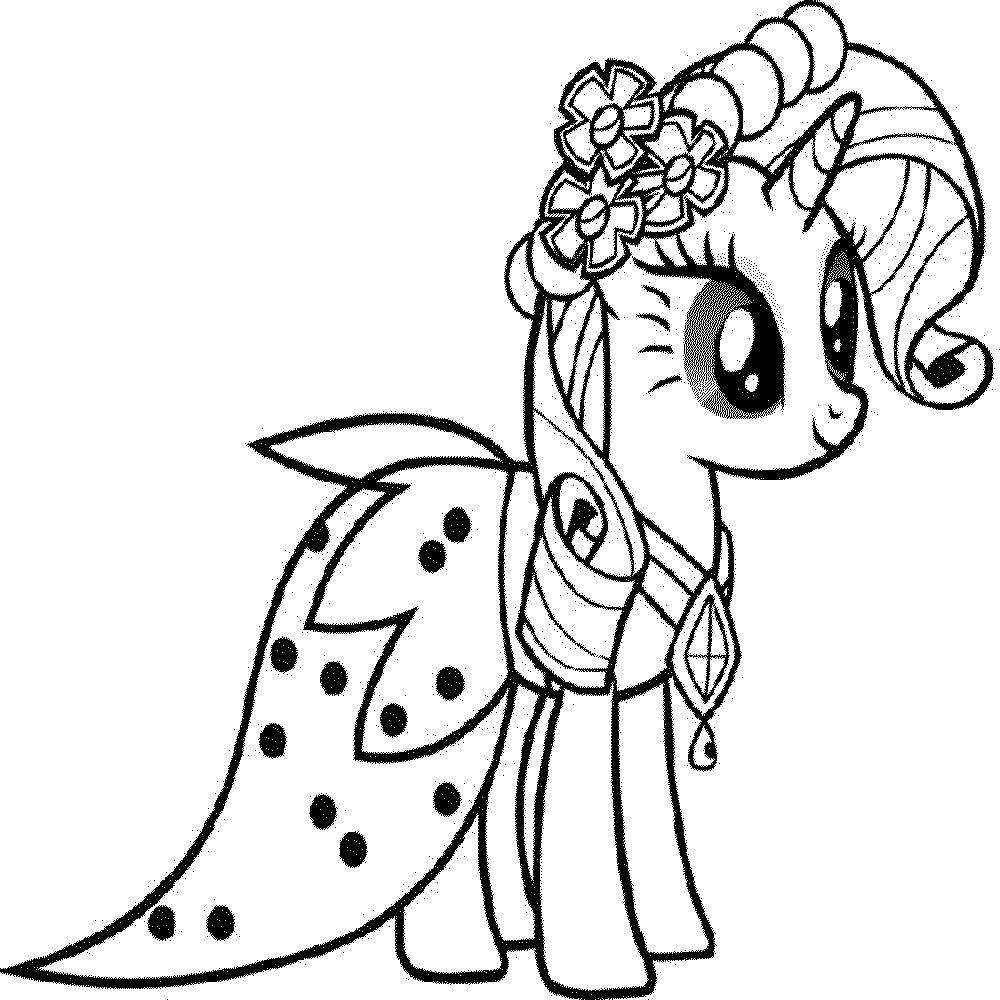 Раскраски для девочек Май Литл Пони (My little Pony)