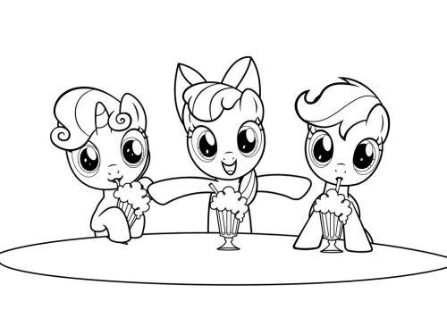 мои маленькие пони раскраска4