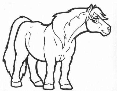 раскраска лошадка17