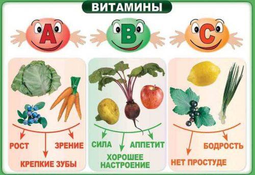 витамины продукты для детей картинки