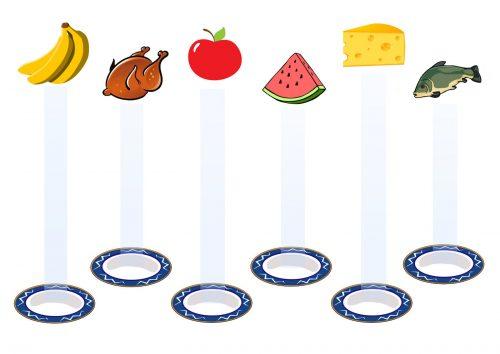 продукты задания для детей