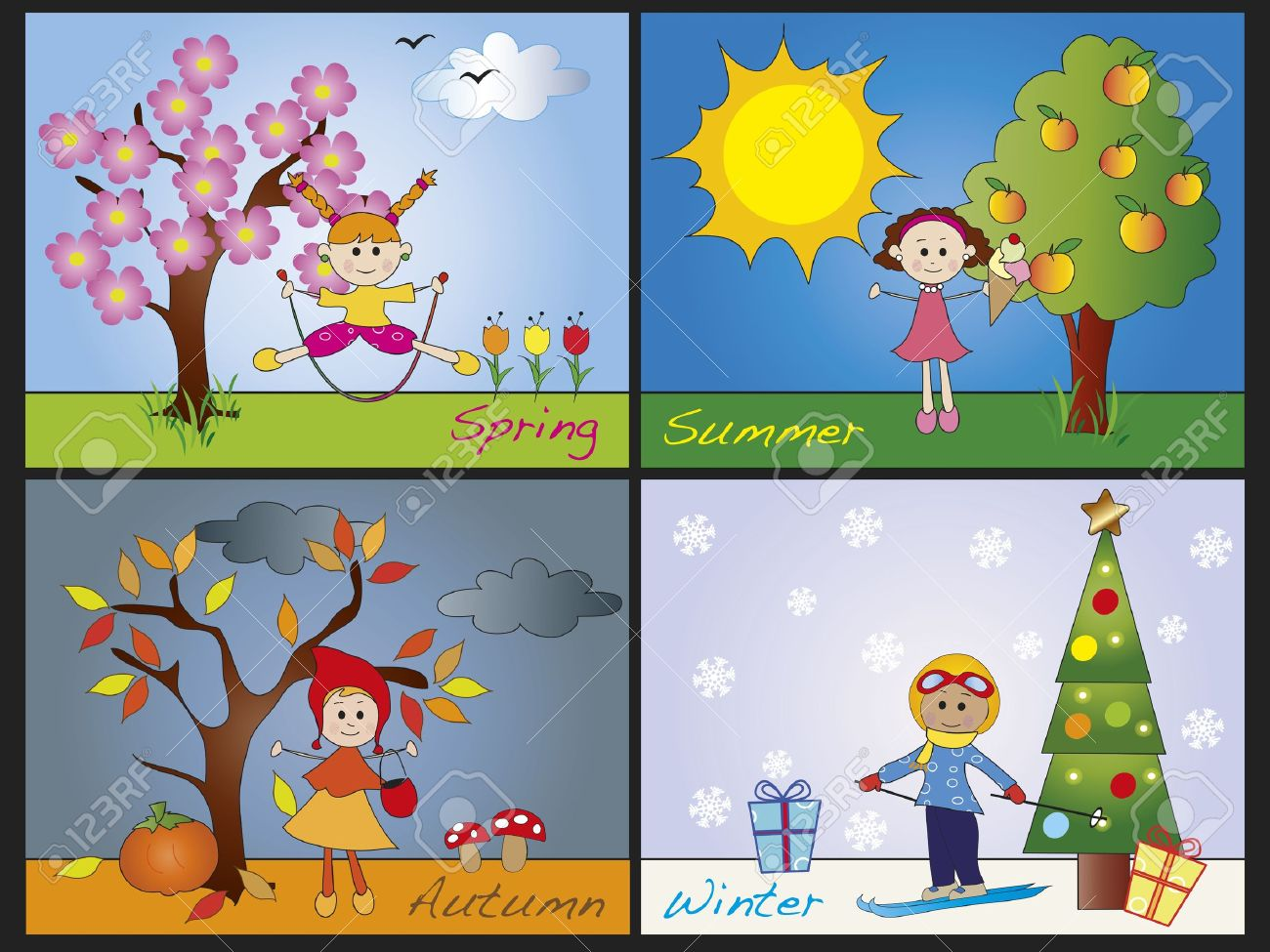 The 4 Seasons Of The Year For Kids