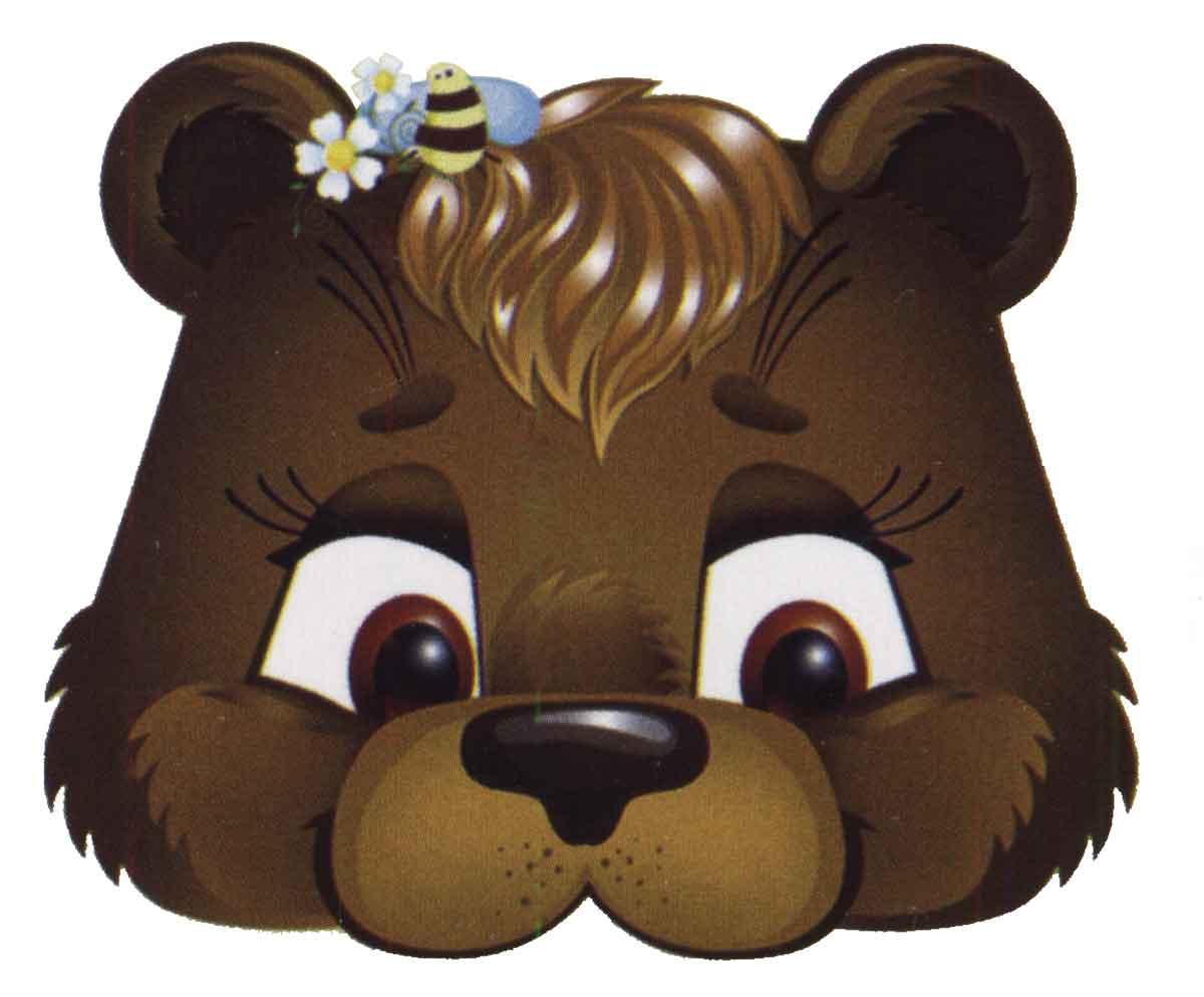 картинка маски медведя большая мороки слоеным