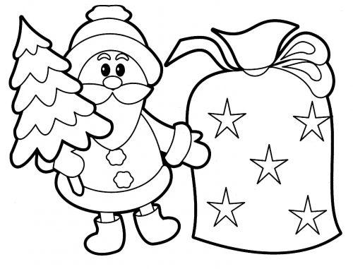 новогодняя раскраска для детей