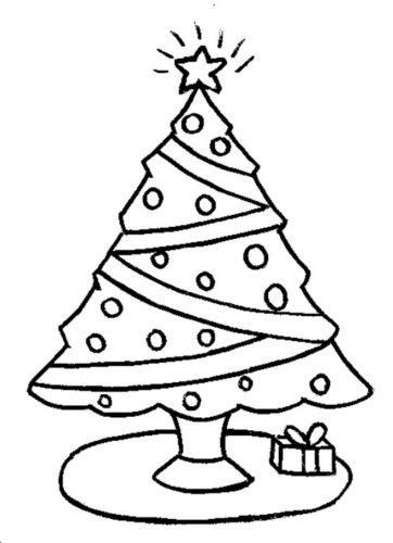 елка раскраска для детей
