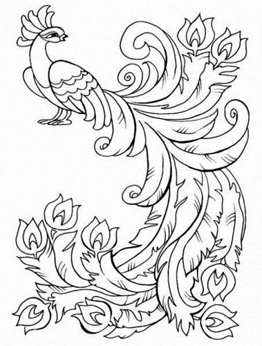 раскраска жар птица2