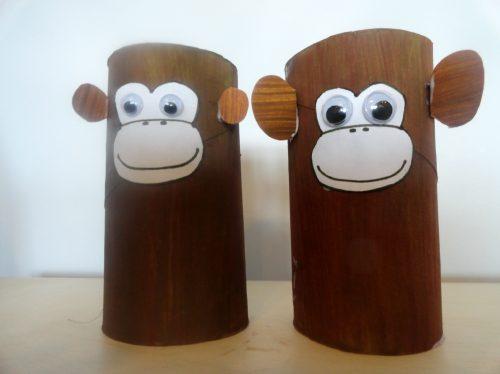 обезьяны из чашек поделка