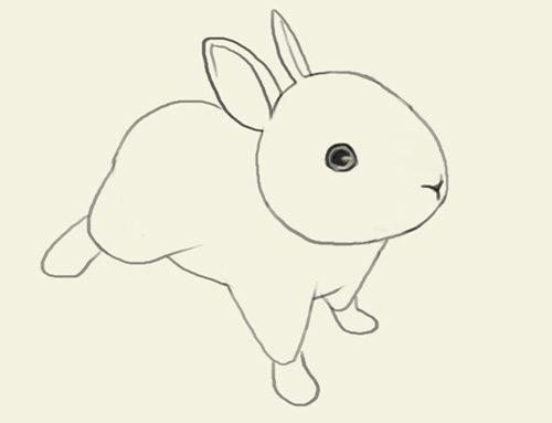 заяц картинки для детей нарисованные