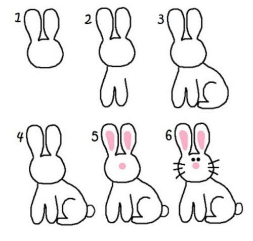 как нарисовать зайца2