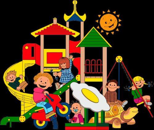 дети в саду рисунок4