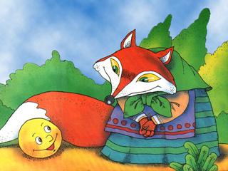 Картинки лиса и колобок для детей