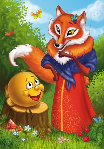 Картинки лиса и колобок для детей3