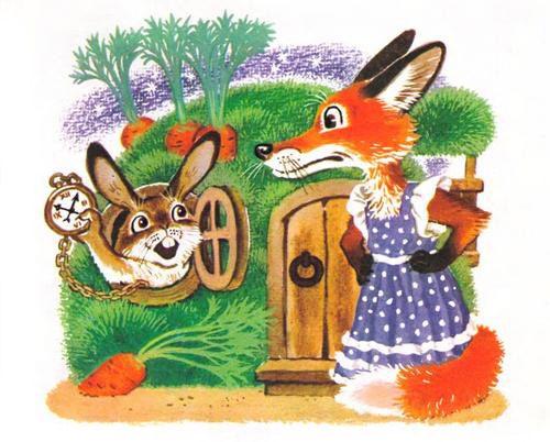 Лиса и заяц картинки для детей