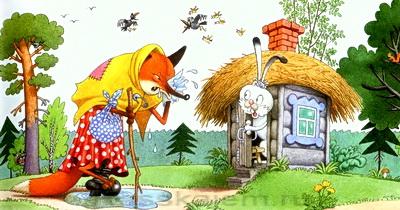 Лиса и заяц картинки для детей2