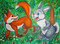 Лиса и заяц картинки для детей4
