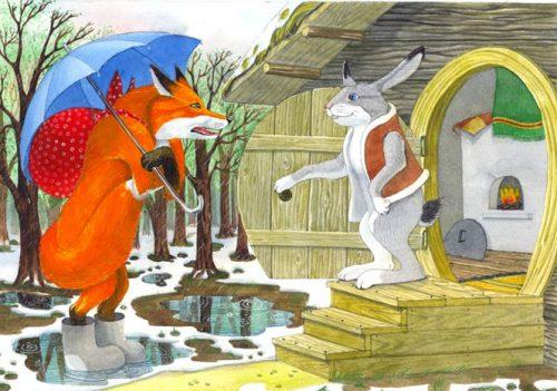 Лиса и заяц картинки для детей5